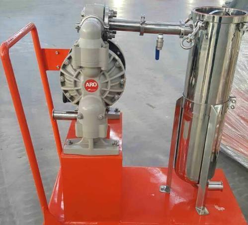 莲宇环保食用油过滤器的使用示例