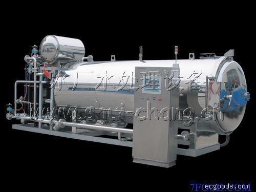 水杀菌消毒设备:单锅喷淋杀菌釜-沈阳水杀菌消毒设备-大连苏打水处理设备