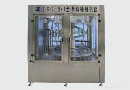 桶装水厂灌装设备:DXGF系列桶装水灌装封盖机